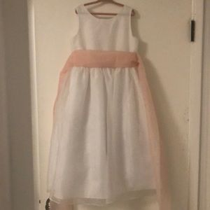 Us Angels white Flower Girl Dress
